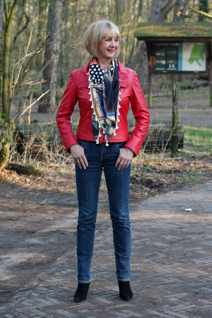 Red leather jacket No Fear of Fashion 675