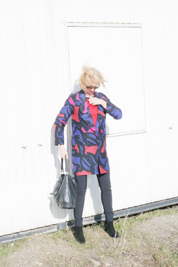 DvF jacket overexposed