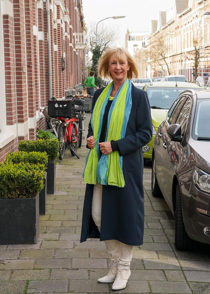 Long blue spring coat