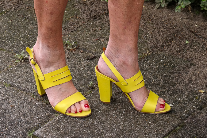 yellow summer sandals