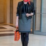 Leather, pearls and polka dots