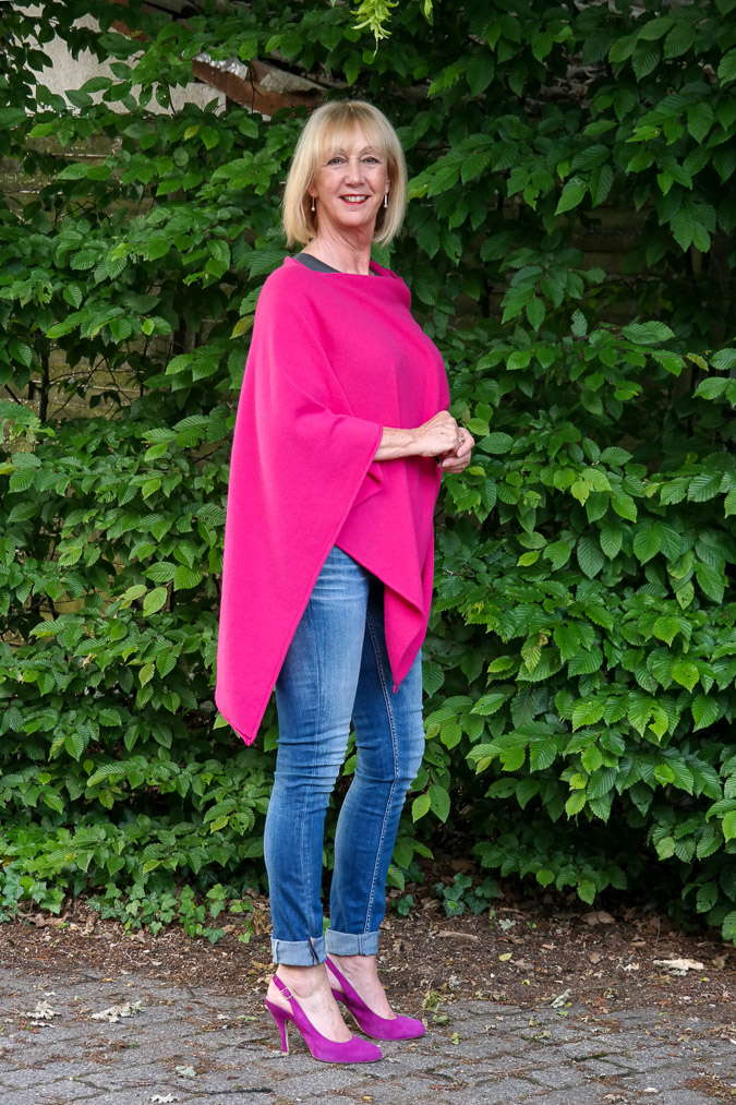 fuchsia poncho by Hope