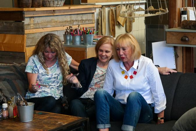 Anja, Sylvia and Greetje