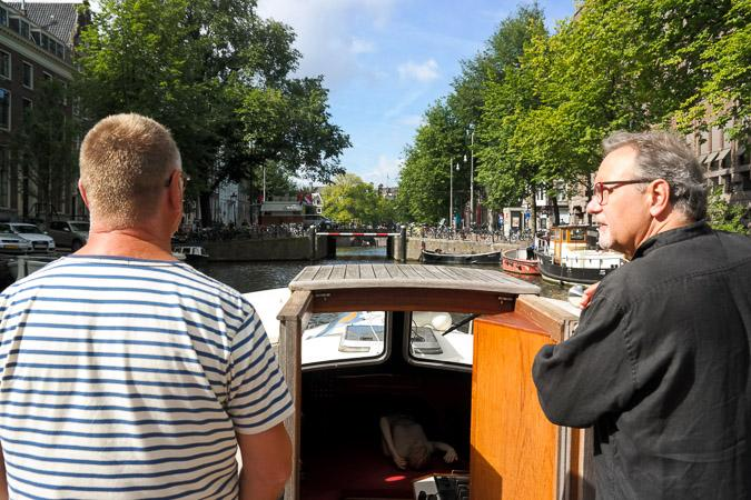 boat tour through Amsterdam