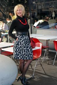 Max Mara grey black white wide skirt