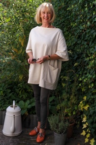 Acne tunic withorange brogues
