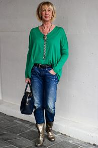 Paris necklace, golden boots (Hoss), boyfriend jeans (G-Star)