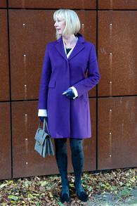 Purple coat by Max Mara