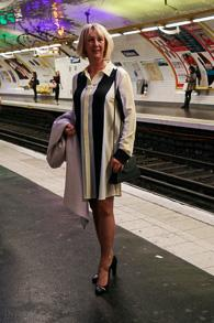 Shirt dress Sportmax, pumps Tommy Hilfiger