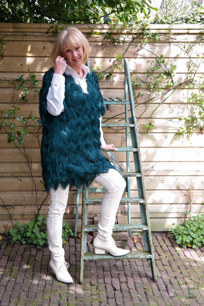 green feather tunic