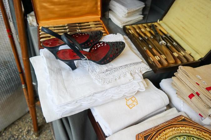 Brocante market Chatou Yves ST Laurant slingbacks