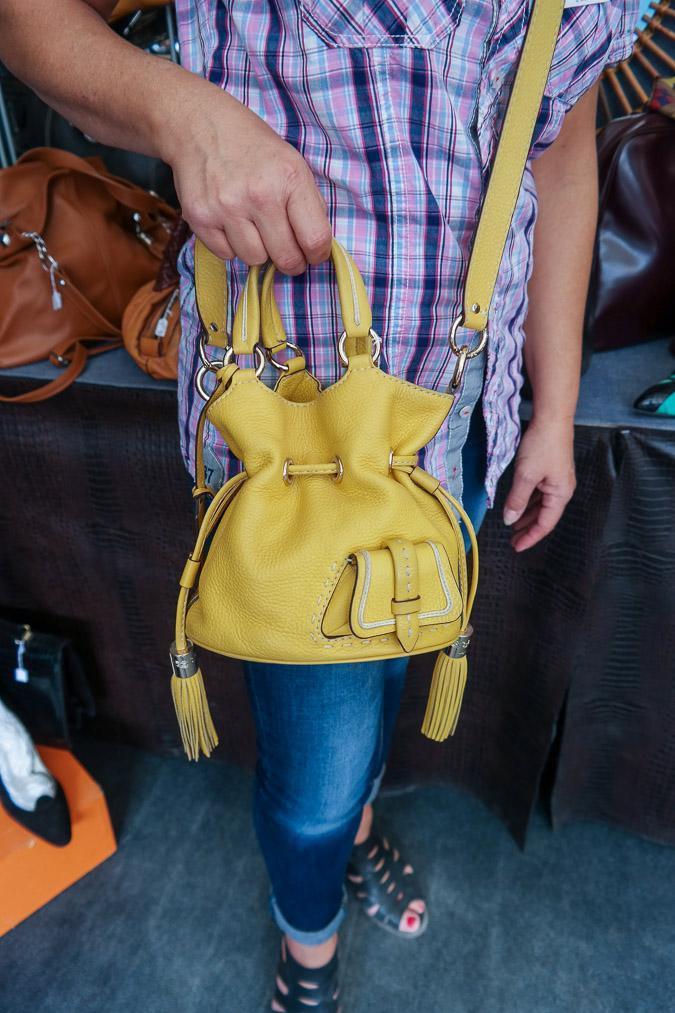 Brocante market Chatou, Lancel bag, Premier flirt drawstring