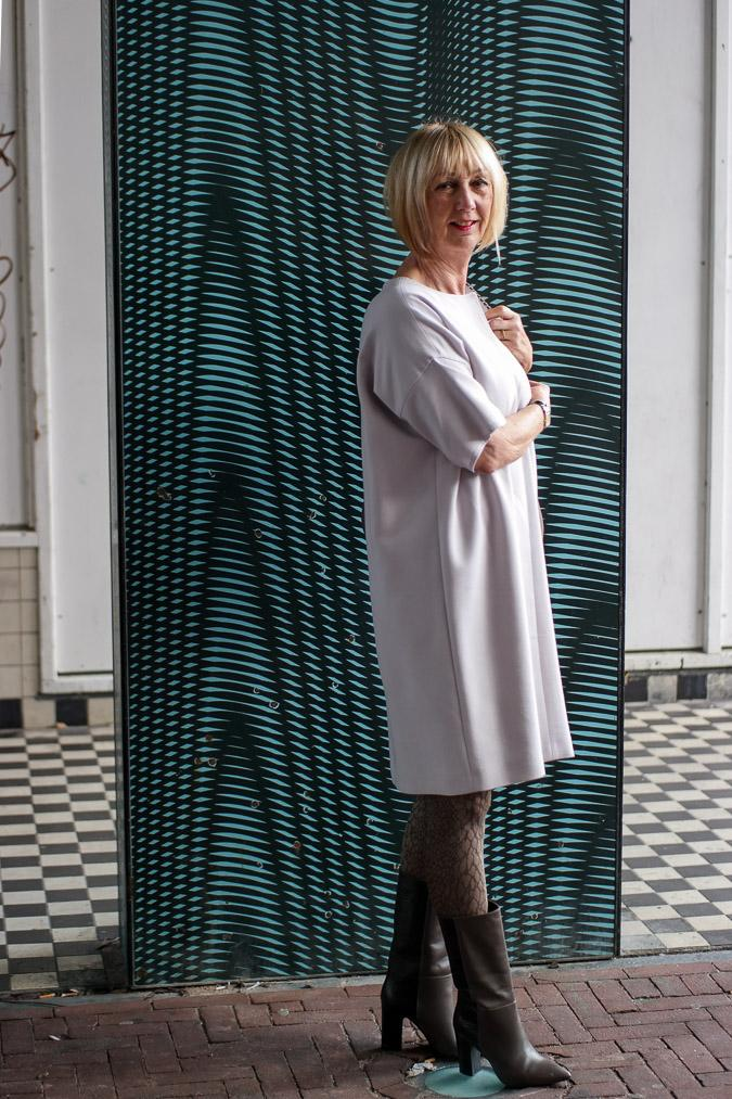 Lavender dress by Max Mara