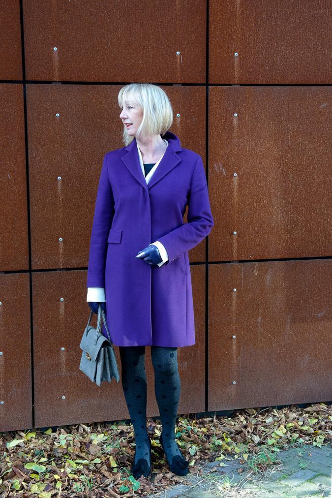 Purple coat by Max Mara