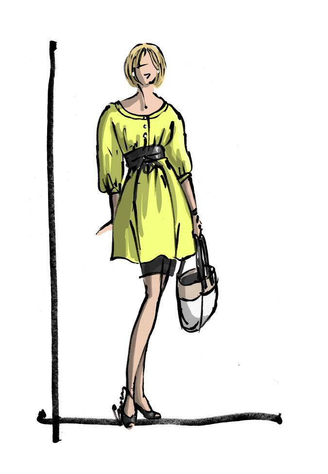 Sketch by Anne M Bray, the Spy Girl