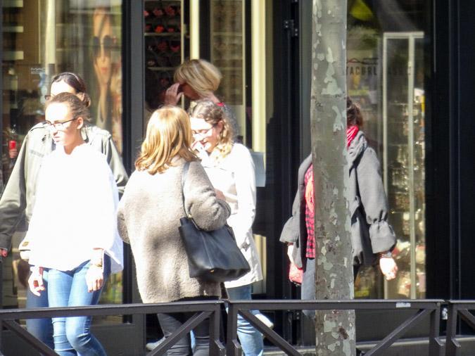 Sequined top in Paris
