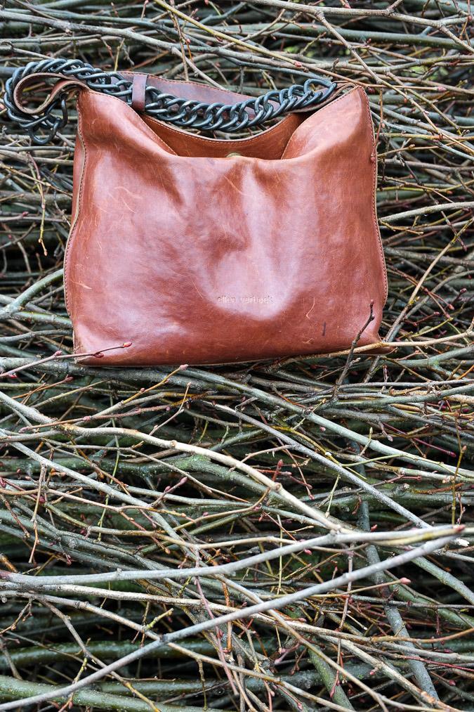 tan bag by Ellen Verbeek