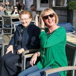 Mum and me in Haarlem