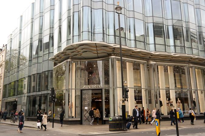 London in April, Oxford Street