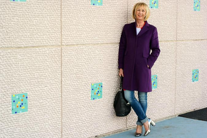 Purple coat Max Mara
