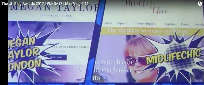 UK Blog Award 2017 Nikki came second