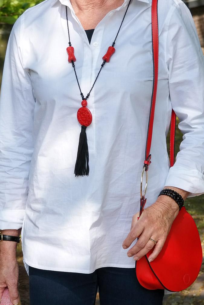 Mini red bag Zara