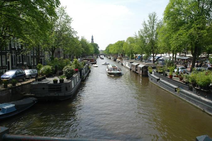 Cruising Amsterdam by boat