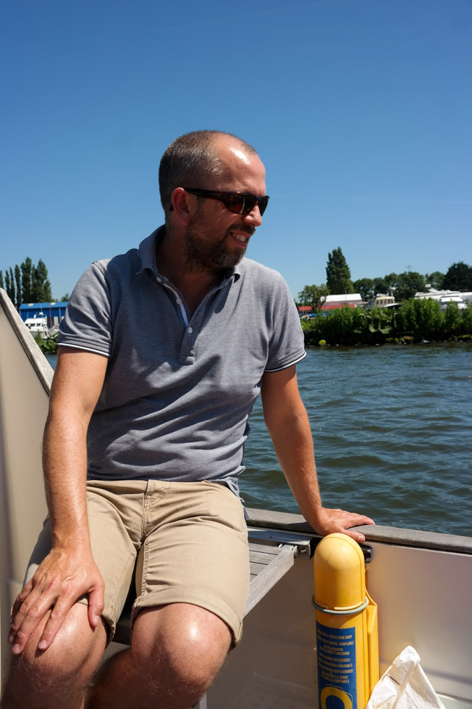Cruising Amsterdam by boat