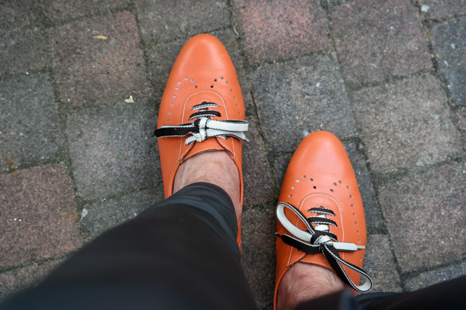 orange brogues