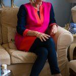 Diane von Fürstenberg colour block tunic