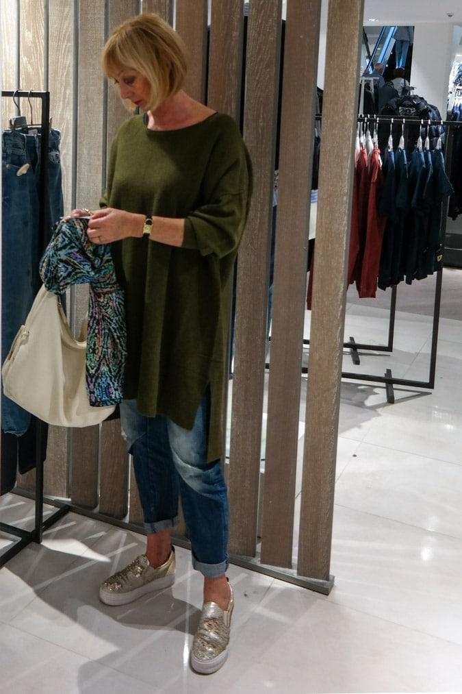long green sweater American Vintage