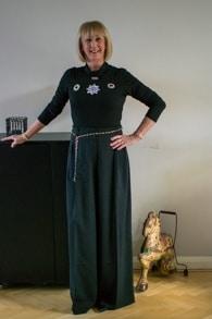 Wide black trousers Piazza Sempione
