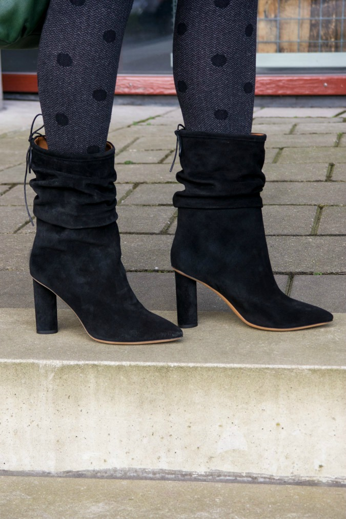 Black IRO boots suede