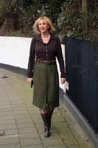 Green midi skirt Essentiel Antwerp