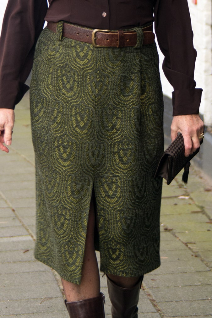 Green midi skirt Essentiel Antwerp