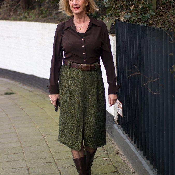 Green midi skirt by Essentiel Antwerp