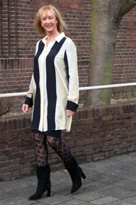 Sportmax shirt dress styled for winter