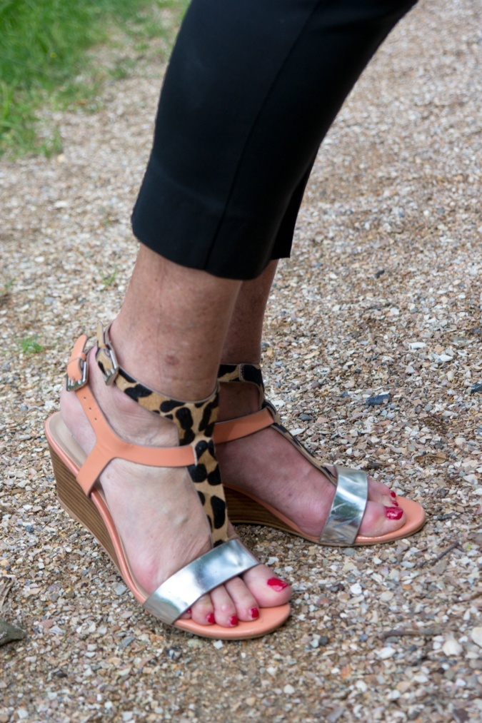 Leopard and pink sandals