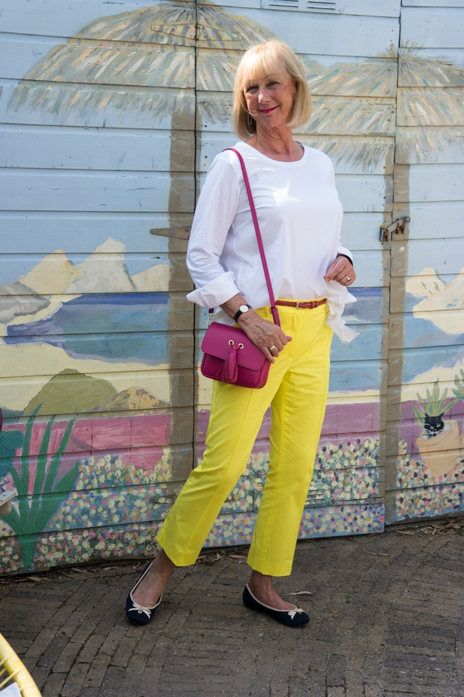 Four colours in one outfit