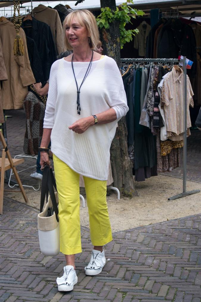 Lemon yellow trousers