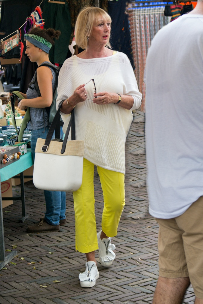 Lemon yellow trousers