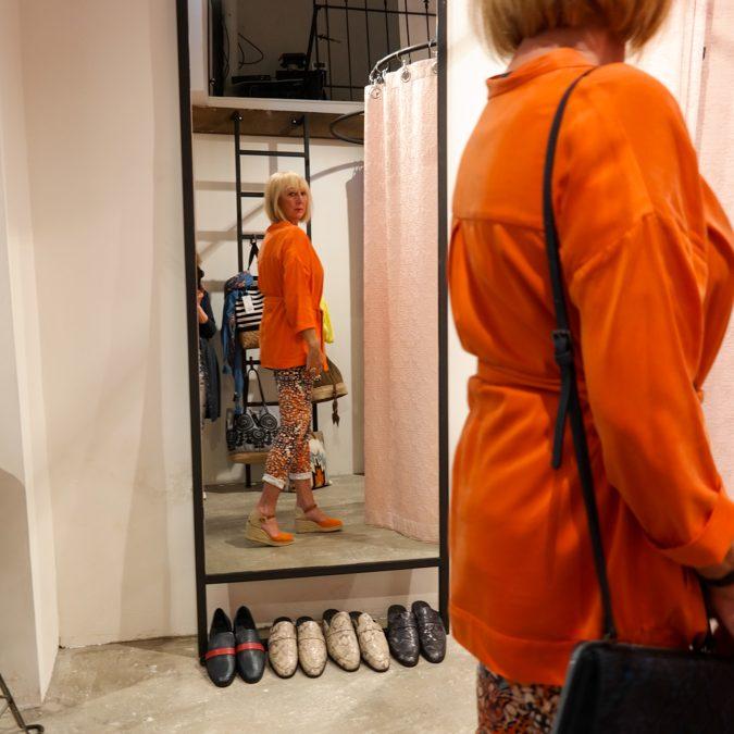 Again, orange clothes. And my friend Marjolein