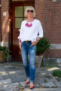 White top Pieszak, skinny jeans Denham