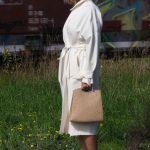 Off-white summer coat