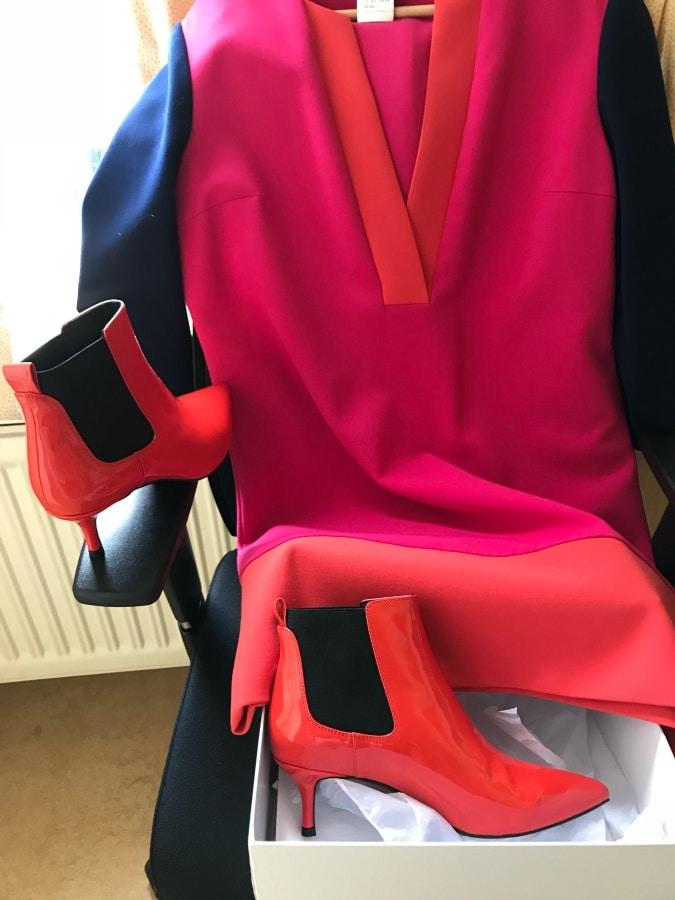 Orange ankle boots Essentiel Antwerp