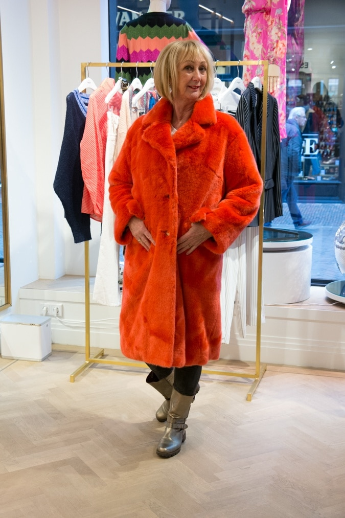 orange teddy coat