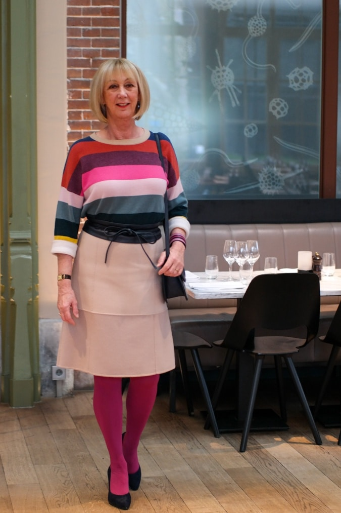 Striped cashmere jumper