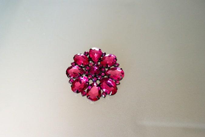 fuchsia brooch