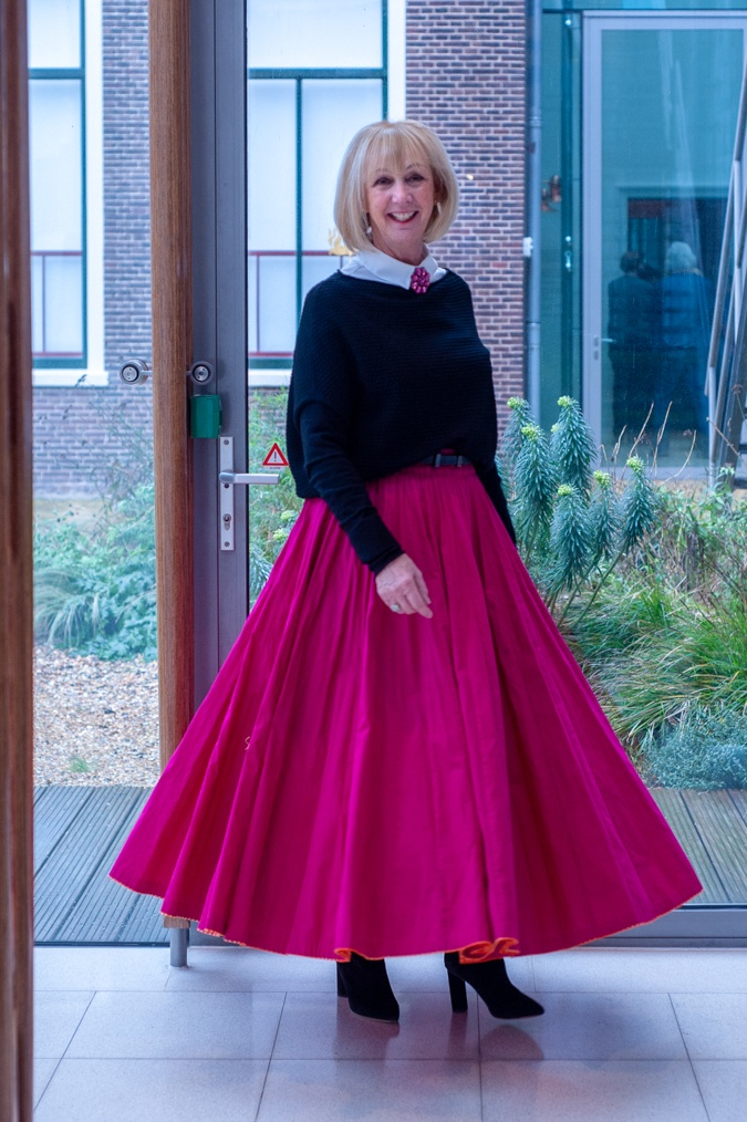 full fuchsia maxi skirt