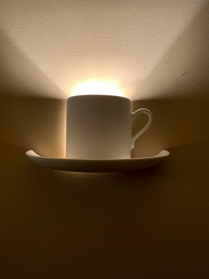 coffee cup as light